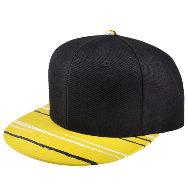 637ee0b87 Custom blank snapback cap with PU leather brim cheap snapback ...