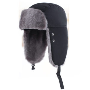 Trapper hat earflap polyester fake fur 2
